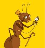 Experto distinguido de la hormiga en antigüedades ilustración del vector