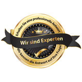 We are experts. Get a professional answer German language Stock Photo