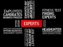 EXPERTS - image with words associated with the topic RECRUITING, word, image, illustration Stock Photo
