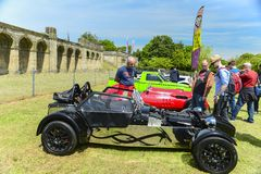Experts and old cars on Crytal Palace Race 2013. Image was taken on May 2013 in Crystal Palace, London, UK Stock Image