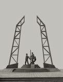 Experts pétroliers de monument Photographie stock libre de droits