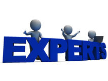 Experts Word Showing Expertise And Consultants Royalty Free Stock Images