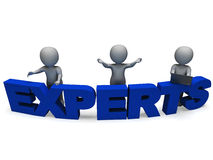 Experts Word Shows Expertise And Consultants. Experts Word Shows Expertise Advice And Consultants vector illustration