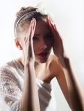 Expession. Energetic girl posing. Studio shot Royalty Free Stock Photos