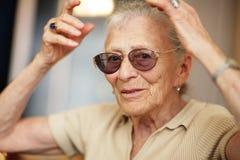 Expession sênior da mulher Foto de Stock Royalty Free