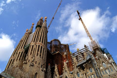 Expiatory Church of Holy Family (Sagrada Familia). By architect Gaudi, building is begun in 1882, Barcelona, Spain Stock Image