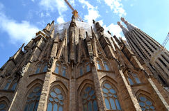 Expiatory Church of Holy Family (Sagrada Familia). By architect Gaudi, building is begun in 1882, Barcelona, Spain Royalty Free Stock Photography