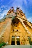 Expiatory church of La Sagrada Familia in Barcelona. Passion Facade of the Temple of the Sagrada Familia in Barcelona Royalty Free Stock Image