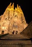Expiatory church of La Sagrada Familia in Barcelona. Passion Facade of the Temple of the Sagrada Familia in Barcelona Royalty Free Stock Photography