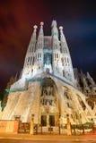 Expiatory church of La Sagrada Familia in Barcelona. Passion Facade of the Temple of the Sagrada Familia in Barcelona Stock Photo