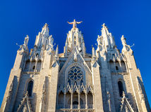 Expiatory Church of the Sacred Heart of Jesus in Barcelona Royalty Free Stock Images