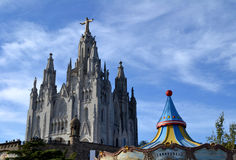 Expiatory Church of the Sacred Heart of Jesus in Barcelona, Spain Stock Photography