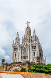 Expiatory Church of the Sacred Heart of Jesus  on summit of Moun. T Tibidabo in Barcelona Royalty Free Stock Photography