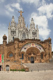Expiatory Church of the Sacred Heart of Jesus. (Temple Expiatori del Sagrat Cor) - Roman Catholic church and minor basilica located on the summit of Mount Stock Image