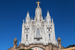 Expiatory Church of the Sacred Heart. On the Tibidabo, Barcelona, Catalonia, Spain Royalty Free Stock Images