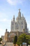 Expiatory Kerk van het Heilige Hart op Tibidabo, Barcelona Stock Fotografie