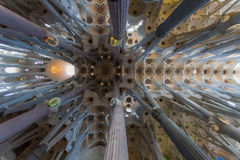 In Expiatory Sagrada Familia in Barcelona, Spain Royalty Free Stock Photography