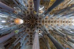 In Expiatory Sagrada Familia in Barcelona, Spanje royalty-vrije stock fotografie
