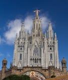 Expiatory temple Sacred Heart of Tibidabo, Barcelona Stock Photos