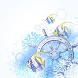 Expida el volante, los corales y los pescados tropicales libre illustration