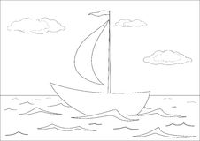 Expida los flotadores en el mar, contornos Fotografía de archivo libre de regalías