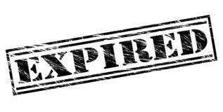 Expired black stamp. Isolated on white background Stock Image