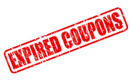 EXPIRED COUPONS red stamp text Royalty Free Stock Photography