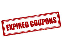 Expired coupons. Rubber stamp with text expired coupons inside,  illustration Stock Photography