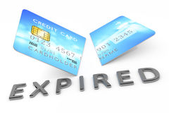 Expired cut credit card Stock Images