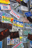 Expired License Plates Royalty Free Stock Photo