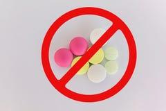expired medicine on white background Stock Images
