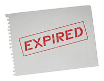 Expired message Stock Photography