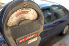 Expired Parking Meter Royalty Free Stock Photo