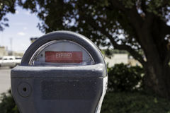 Expired Parking Meter stock image