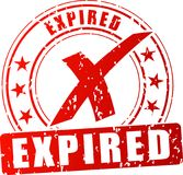 Expired red stamp. Illustration of expired red stamp on white background Stock Image