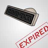Expired stamp. Creative design of expired stamp Stock Photo