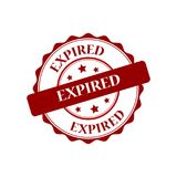 Expired stamp illustration. Expired red stamp seal illustration design Royalty Free Stock Photography