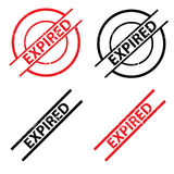 Expired stamps Royalty Free Stock Image