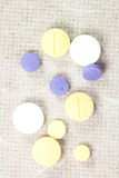 Expired tablets. Royalty Free Stock Image