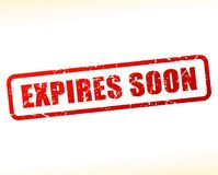Expires soon text buffered Royalty Free Stock Images
