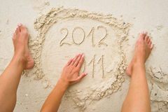 The expiring year 2011 Royalty Free Stock Image