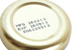 Expiry date printed Stock Photography