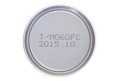 Expiry date printed Stock Photo
