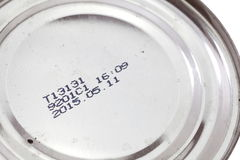 Expiry date printed Royalty Free Stock Photos