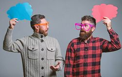 Explain humor concept. Funny story and humor. Comic idea. Men joking. Share opinion speech bubble copy space. Comic and. Humor sense. Men with beard and stock images