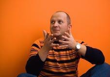 Explaining. Man explaining something Royalty Free Stock Images