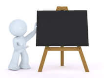 Explaining on a black board Royalty Free Stock Photo