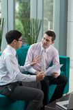 Explaining business idea Stock Image