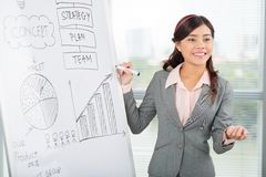 Explaining business ideas Stock Image
