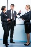 Explaining business-plan Royalty Free Stock Photography